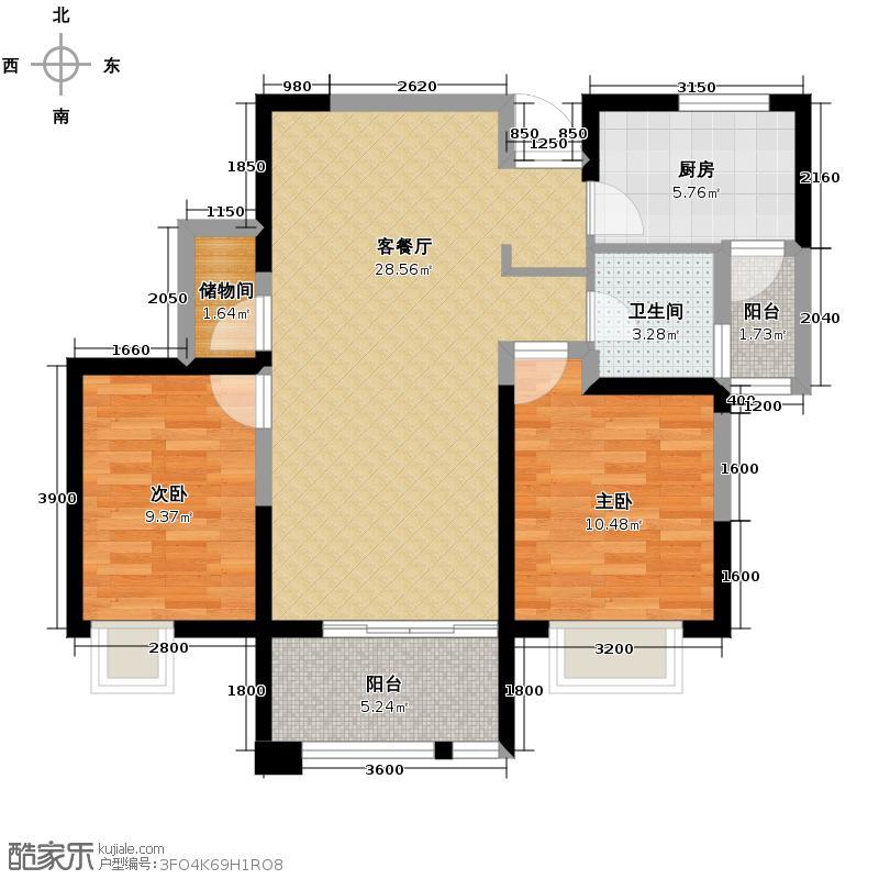 缤纷南郡76.77㎡中铁C1b(偶数层)户型10室