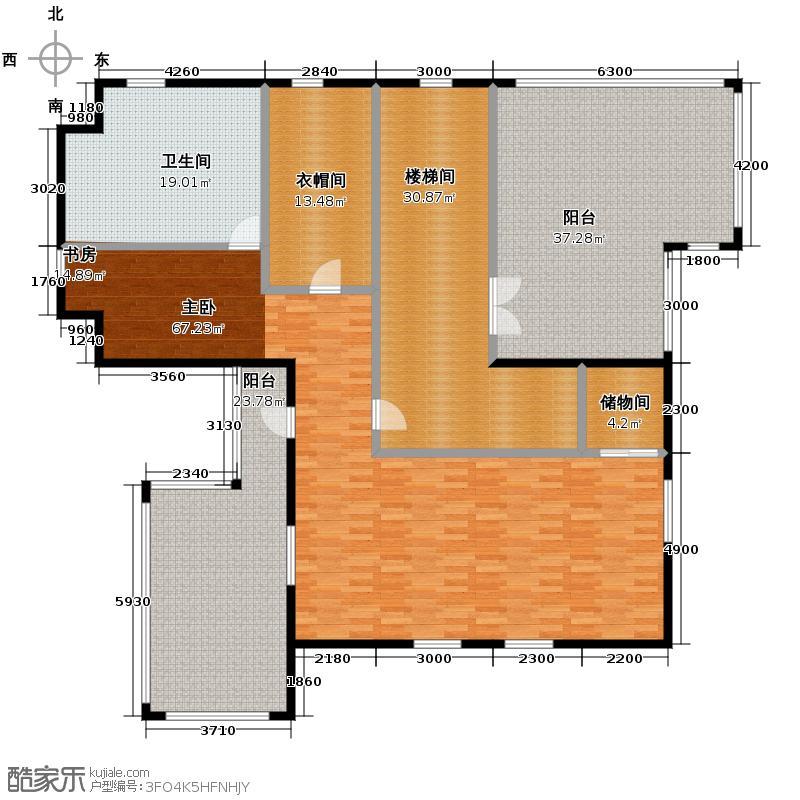 贻成水木清华213.34㎡别墅二期东H三层户型10室
