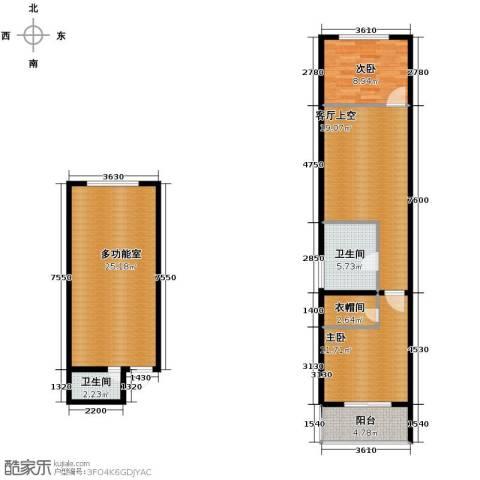 水半湾2室0厅2卫0厨98.00㎡户型图
