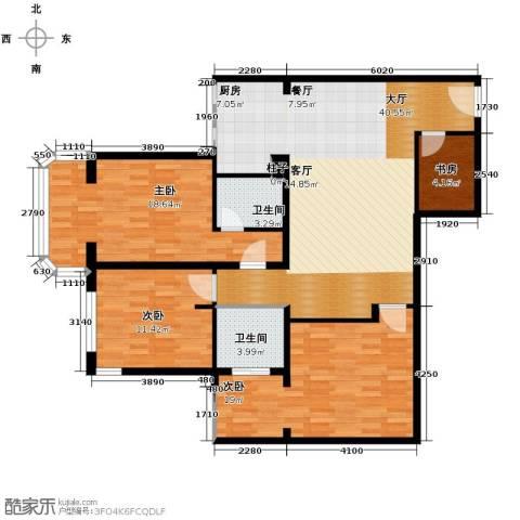 黄金SOHO4室0厅2卫0厨133.00㎡户型图