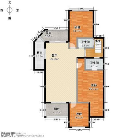 斌鑫中央国际公园3室2厅2卫0厨123.00㎡户型图