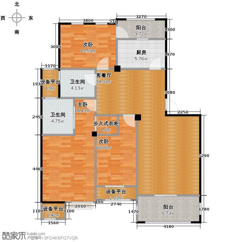 青林湾114.70㎡标准层――户型10室