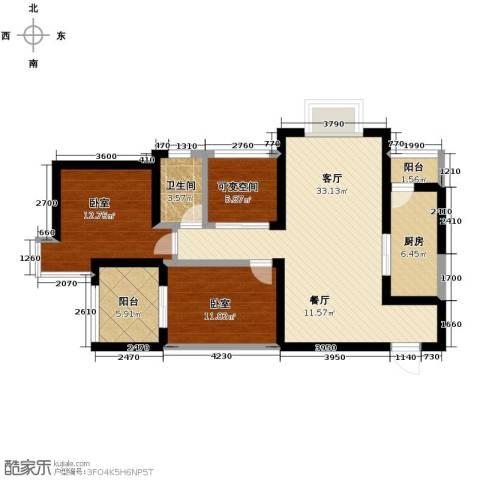 上和城2室2厅1卫0厨103.00㎡户型图