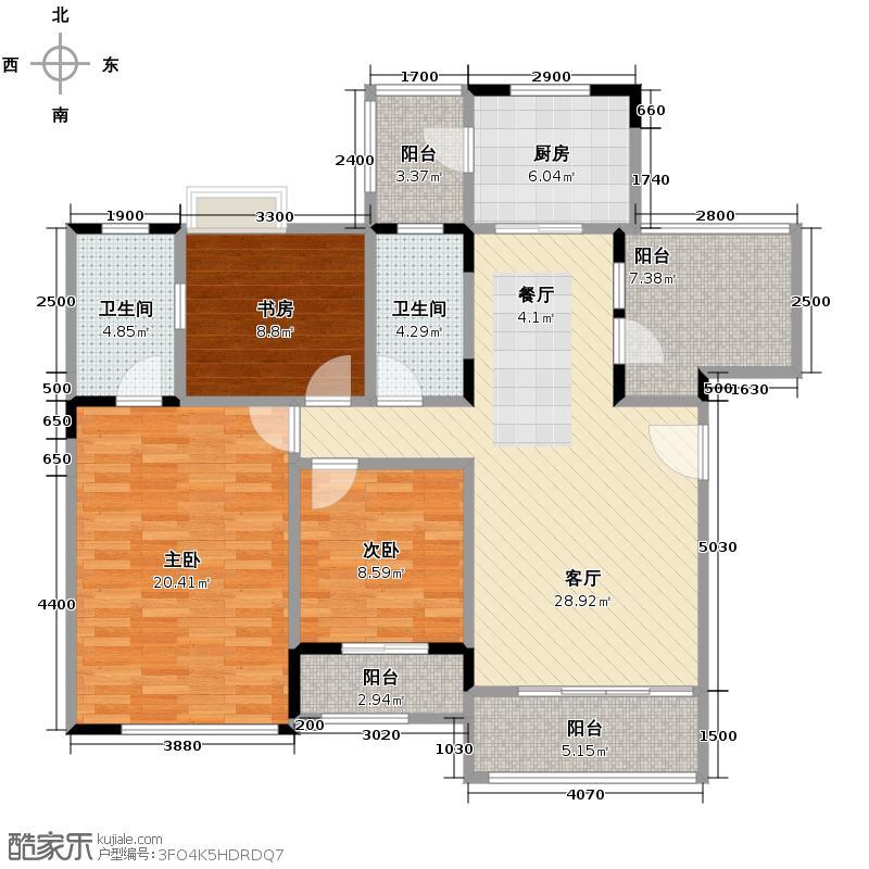 同景国际城113.37㎡E3F户型10室