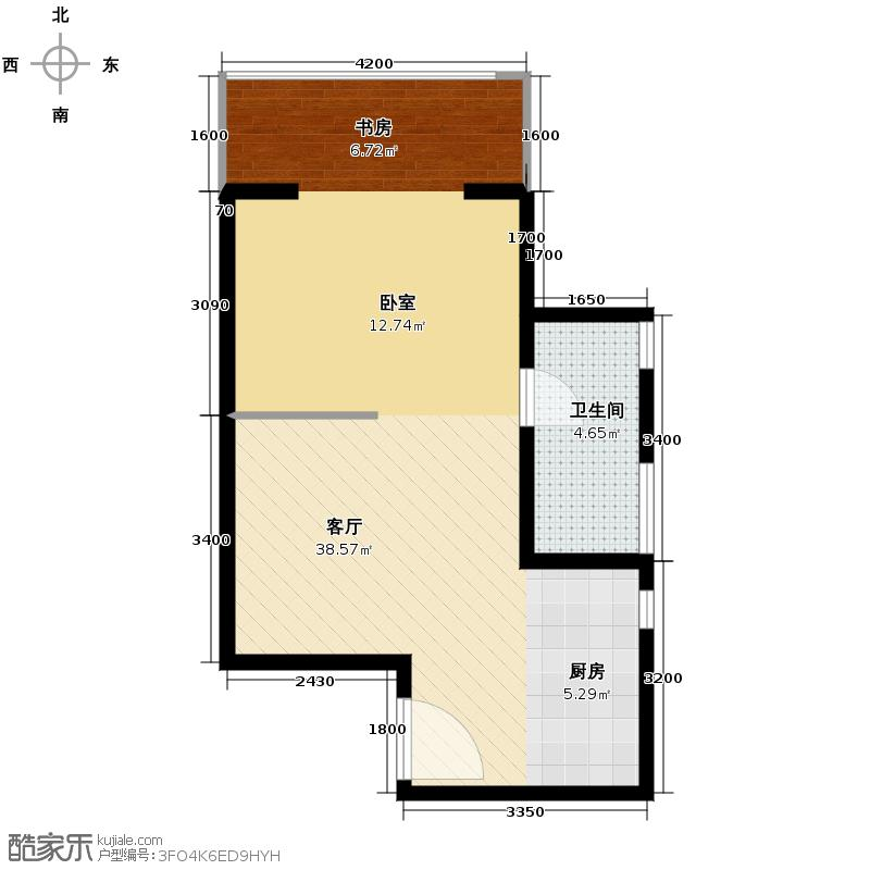红杉国际公寓63.00㎡E1户型10室