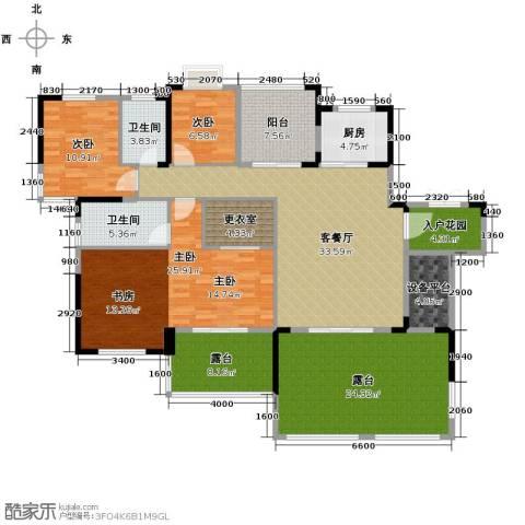 人信太子湾3室1厅2卫1厨143.72㎡户型图