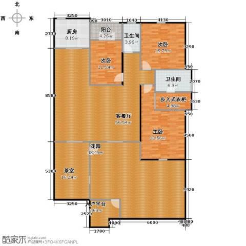 万科惠斯勒小镇3室2厅2卫0厨203.31㎡户型图