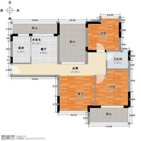 武汉锦绣香江2室2厅1卫0厨104.00㎡户型图