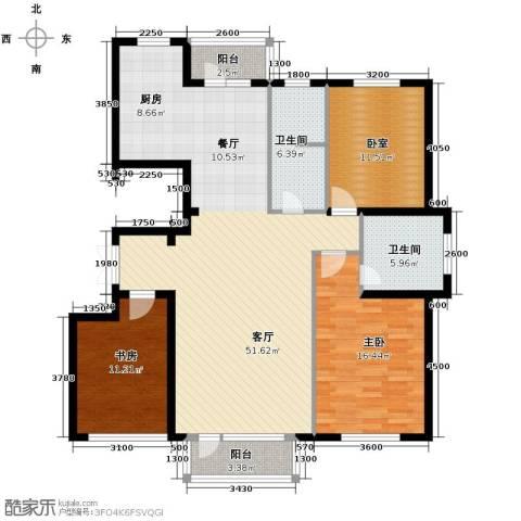 嘉恒国际2室1厅2卫0厨153.00㎡户型图