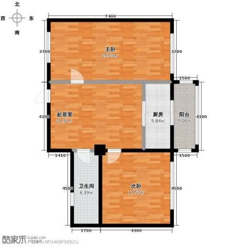 想想大厦2室1厅1卫0厨98.00㎡户型图