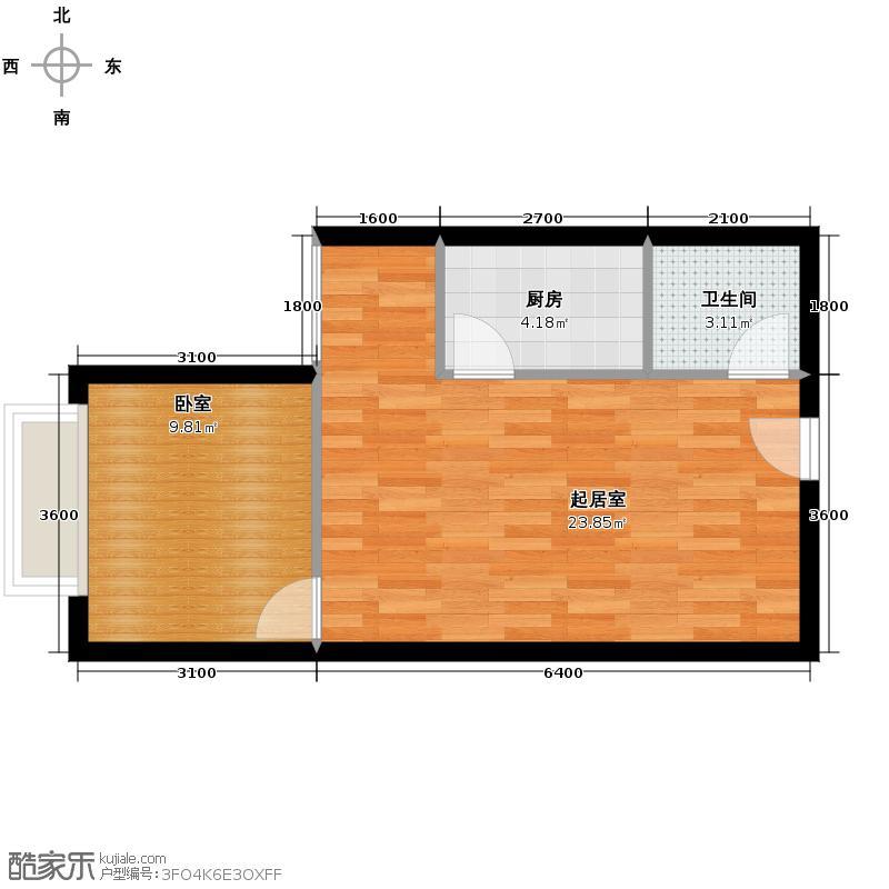 名门国际45.72㎡户型10室