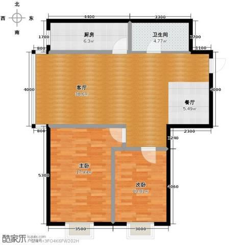 金宇钻石2室2厅1卫0厨85.95㎡户型图