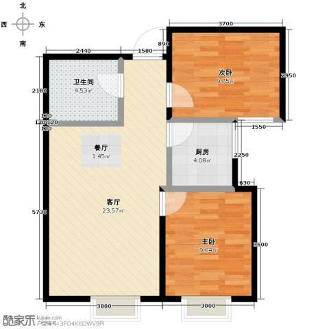 华润橡树湾2室2厅1卫0厨75.00㎡户型图