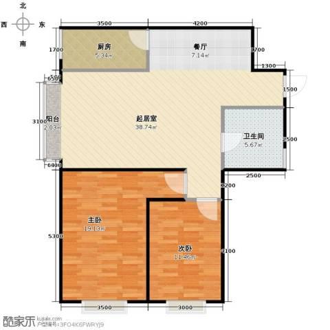 金宇钻石2室2厅1卫0厨85.57㎡户型图