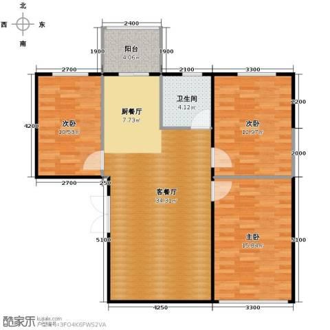 碧玉华府3室1厅1卫0厨109.00㎡户型图