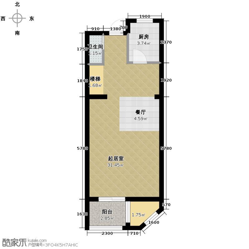 大华曲江公园世家106.36㎡C3底层户型2室3厅2卫
