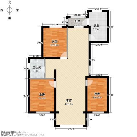 巴黎第五区3室2厅1卫0厨130.00㎡户型图