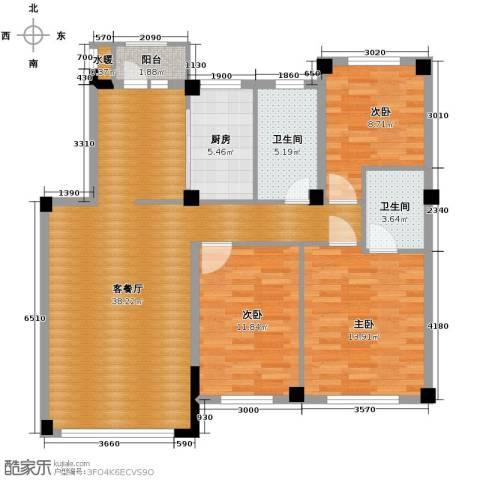 温莎小镇3室2厅2卫0厨126.00㎡户型图