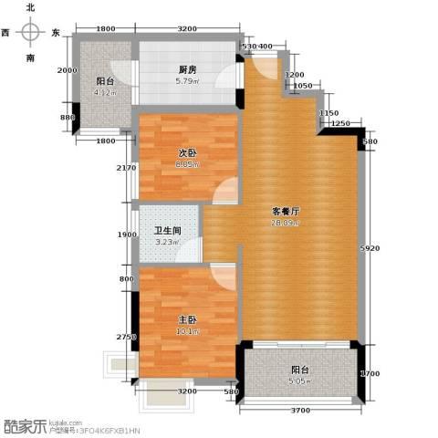 武汉锦绣香江2室2厅1卫0厨79.00㎡户型图