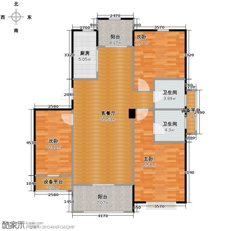 青林湾112.26㎡标准层――户型10室