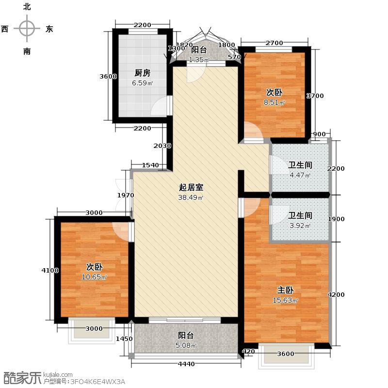 龙江华苑129.00㎡C户型3室2厅2卫