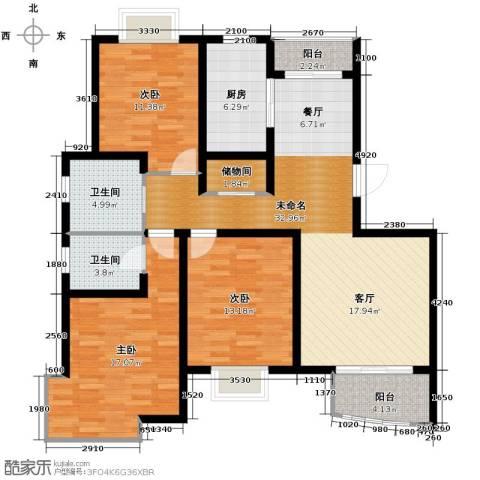 枫桥紫郡3室2厅2卫0厨129.00㎡户型图