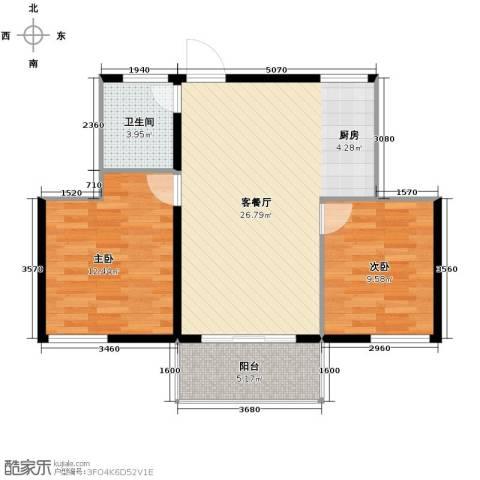 南美假日2室2厅1卫0厨74.00㎡户型图