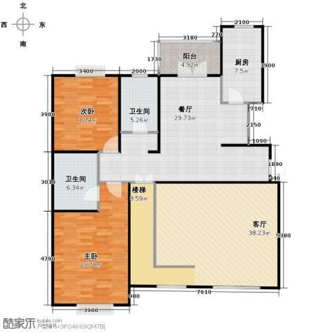 沽上江南3室2厅3卫0厨133.01㎡户型图