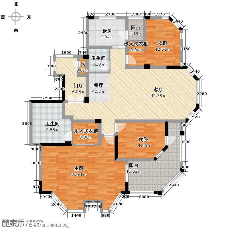 仁和金鼎公寓165.88㎡户型3室1厅2卫1厨