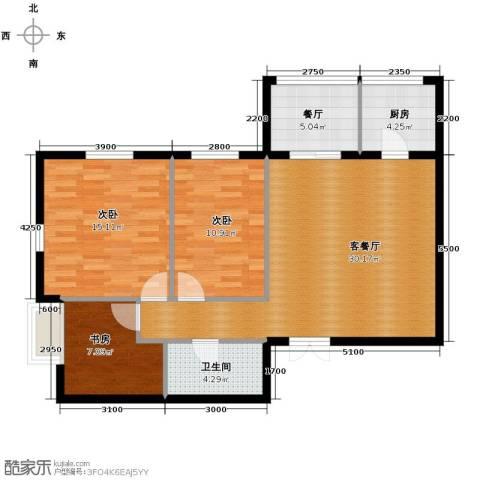 戛纳35号2室1厅1卫0厨106.00㎡户型图