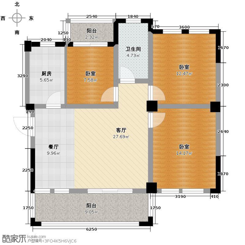 现代森林小镇金融SOHO垂直商业106.00㎡二期B区A栋1户型10室