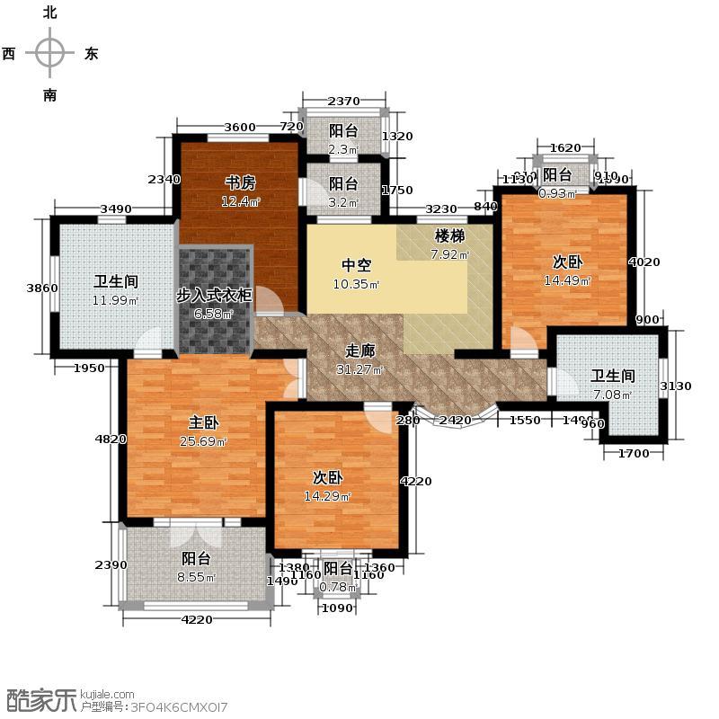 半岛世家145.26㎡C二层平面图户型10室