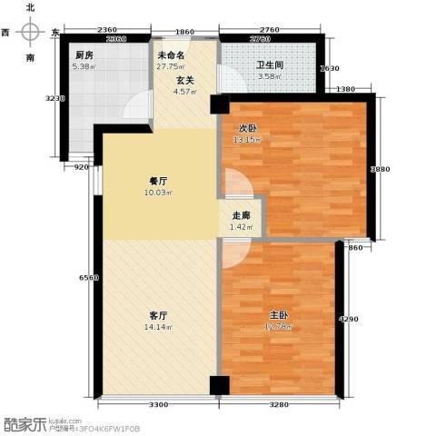 东城新一家2室2厅1卫0厨95.00㎡户型图