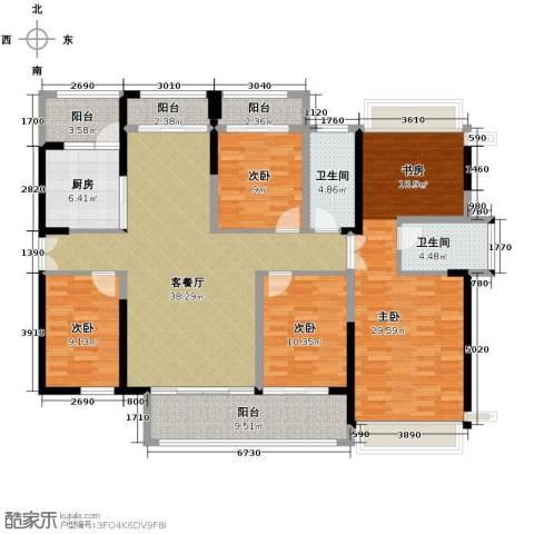 金亨利都荟首府4室2厅2卫0厨143.00㎡户型图