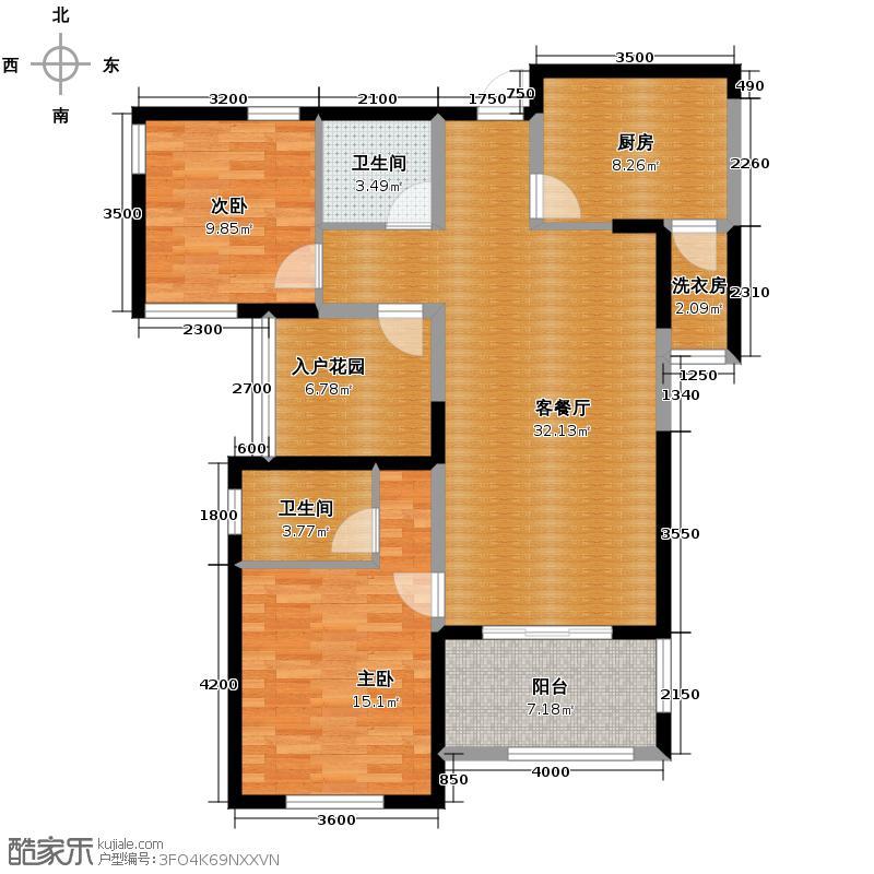 融侨城111.00㎡户型3室2厅2卫