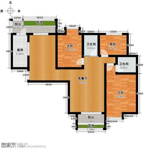 比克橄榄湾2室2厅1卫0厨127.00㎡户型图