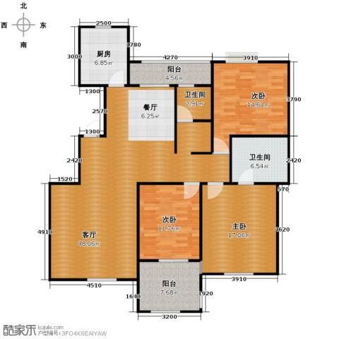 万锦花语岸3室1厅2卫1厨163.00㎡户型图