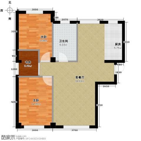 海天富地2室2厅1卫0厨86.00㎡户型图