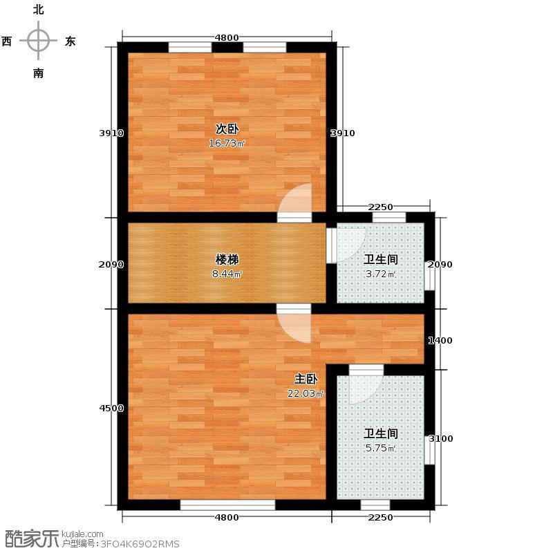 大唐壹号领馆65.23㎡10号楼07三层户型10室