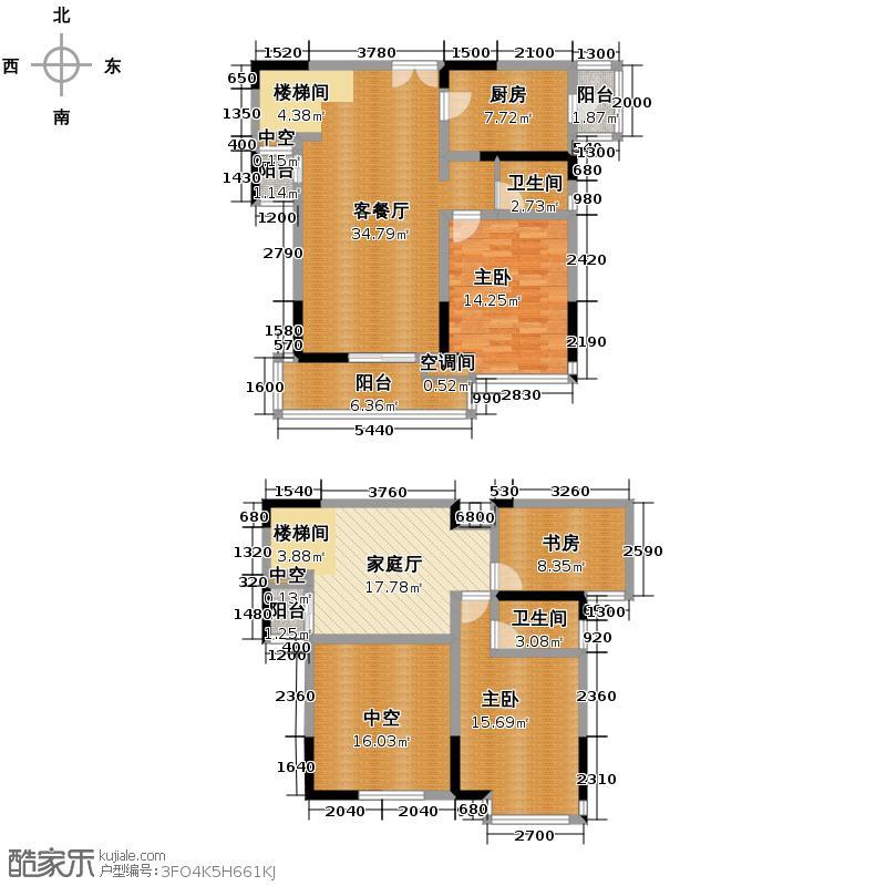 保利麓谷林语156.00㎡E4-1户型3室3厅2卫