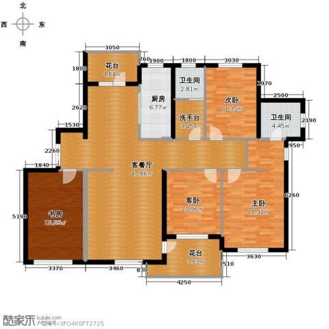 嘉恒国际4室1厅2卫1厨186.00㎡户型图