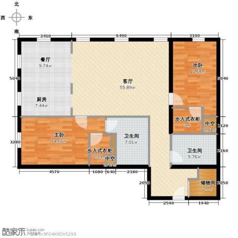 万国城moma2室3厅2卫0厨148.00㎡户型图
