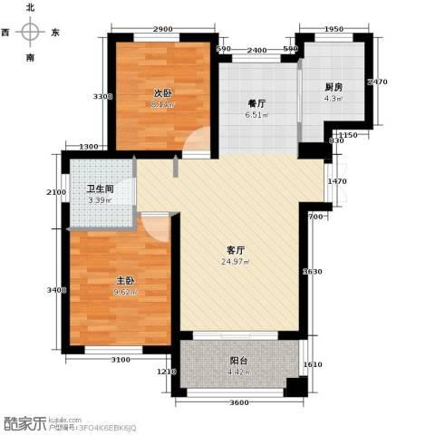 朗庭山2室2厅1卫0厨81.00㎡户型图