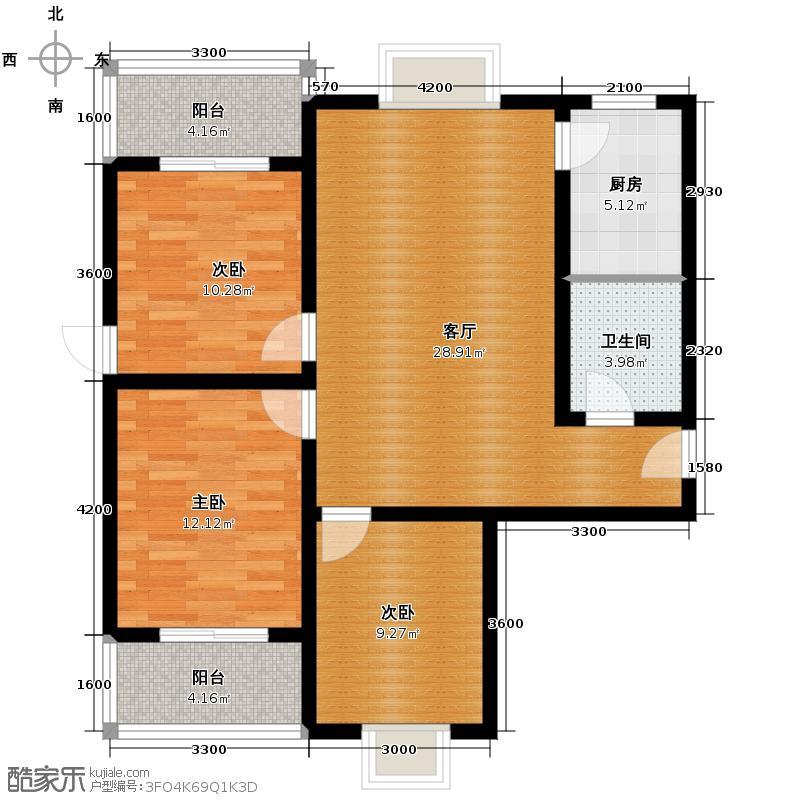 朝阳佳园117.75㎡A1-A户型3室2厅1卫