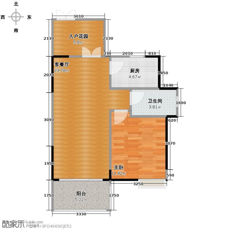 富力城53.12㎡春天里B7/B8栋1号房户型10室
