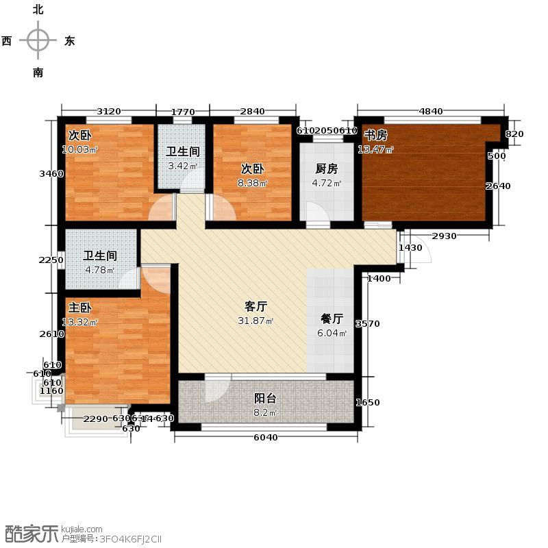 永定河孔雀城英国宫86.00㎡K3户型3室2厅1卫