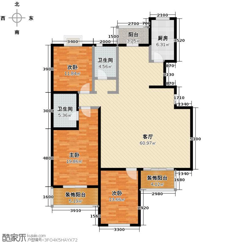 沽上江南162.00㎡A2二层户型3室2厅2卫