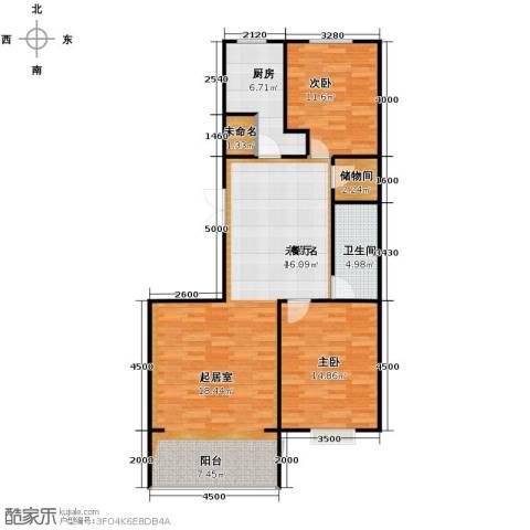 金宇钻石2室2厅1卫0厨93.80㎡户型图