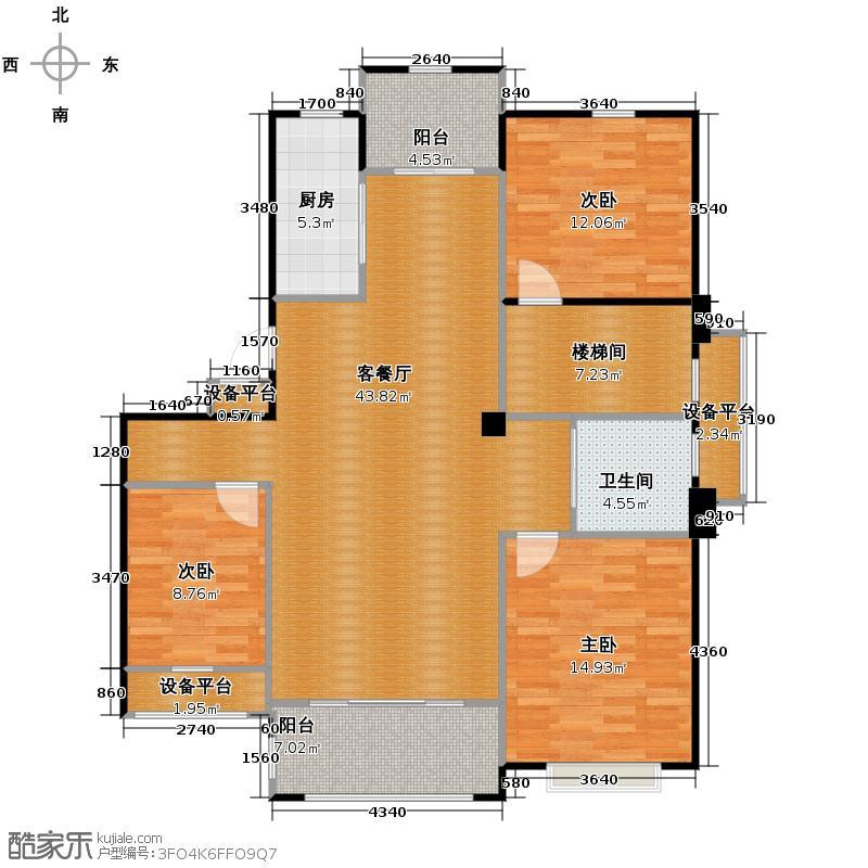 青林湾122.31㎡户型10室