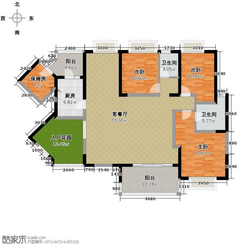 仁和春天国际花园170.37㎡户型3室2厅2卫